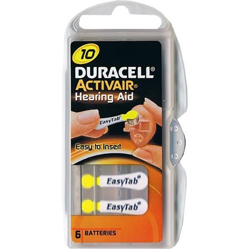 Hörgerätebatterie Duracell EasyTab 6 Stück V 10