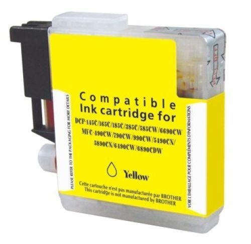 Druckerpatrone für Brother, Typ BK980/1100Y, yellow
