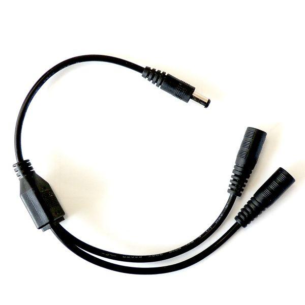 12 V DC-Splitter für LED-Stripes, 1 auf 2
