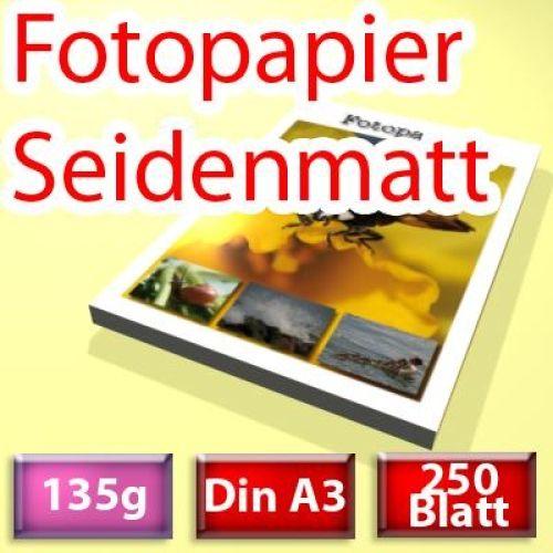 135g seidenmatt Papier Din A3, 250 Blatt