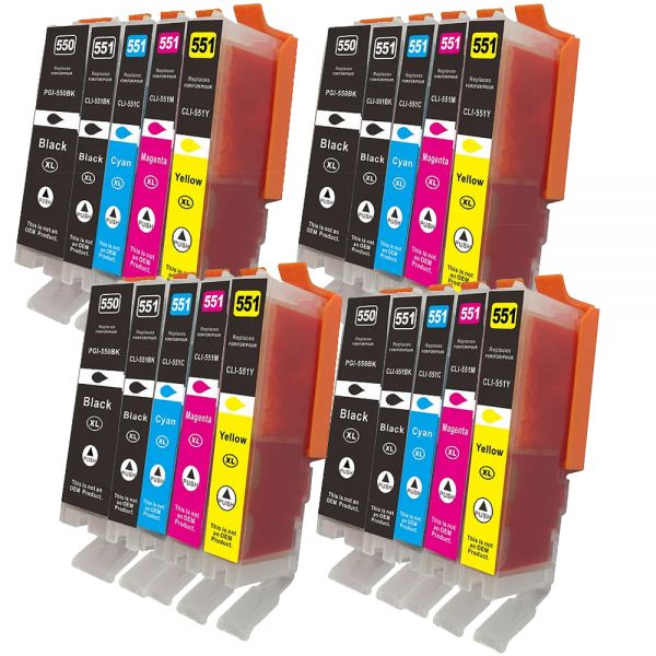 * 20 XL-Patronen Sparset: alternativ zu PGI550/CLI-551 CS550