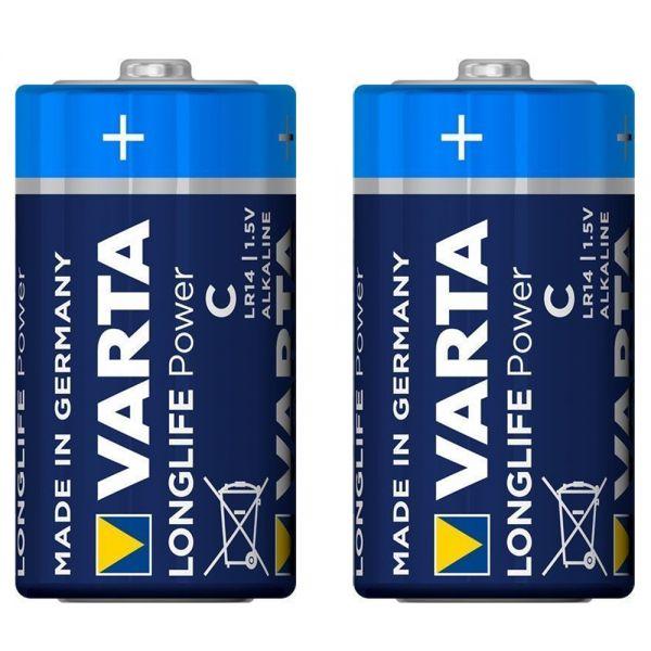 2 Stück Baby (C) 1,5V -Batterien, Varta Longlife Power