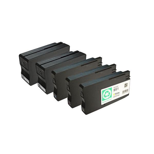 * 5 kompatible Patronen alternativ zu HP Typ 950XL, 951XL