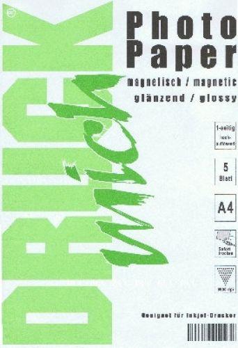 A4 magnetisches Papier, photo-glänzend, 5 Blatt