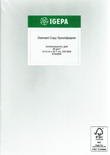 Pergamentpapier, A4, 100 Blatt, 90 g/m2, halbtransparent