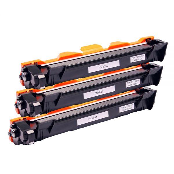 3x Toner BLT1050, Rebuild für Brother-Drucker, ersetzt TN-1050
