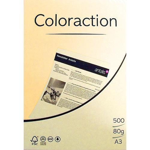 80g A3-Papier Intensivgelb, 500 Blatt