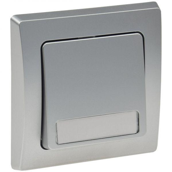 UP-Serien-Doppelschalter Unterputz DELPHI silber
