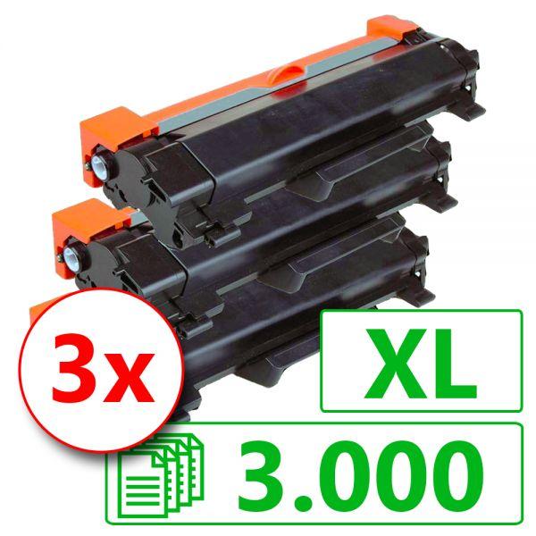 3x Toner BLT2420XL, Rebuild für Brother-Drucker mit TN-2420
