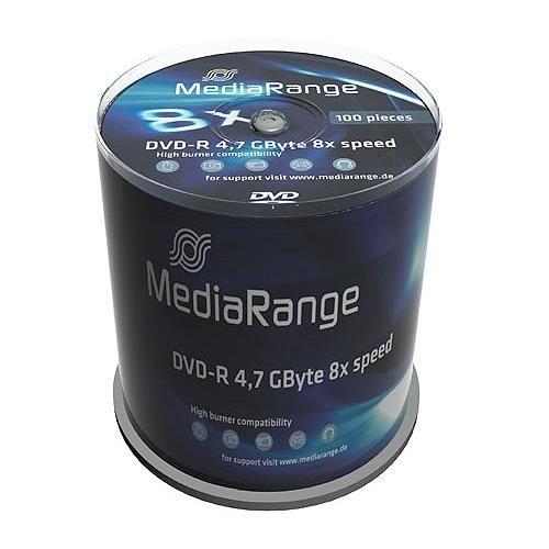 100 St. DVD-R Rohlinge, MediaRange, 8x