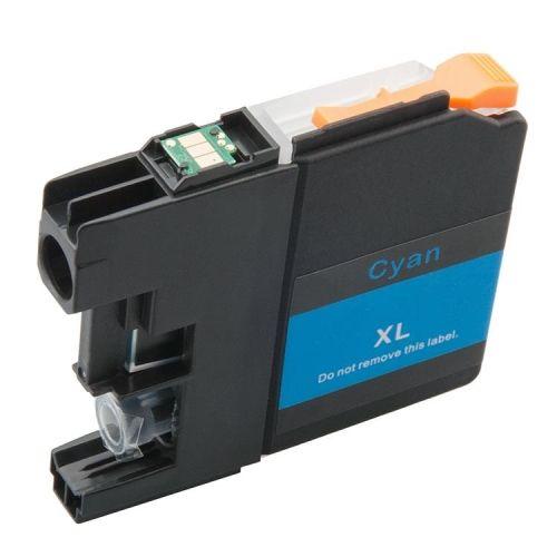 Druckerpatrone cyan mit Chip für Brother, Typ BK121C-Chip