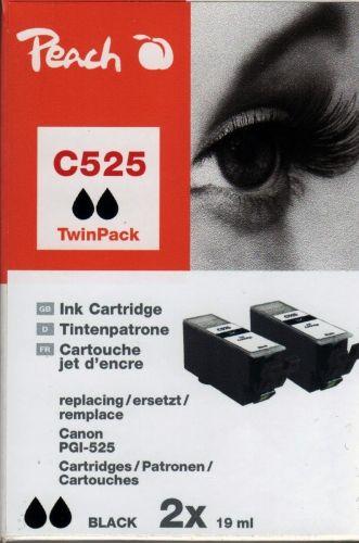 Peach TwinPack PI100-218, kompatibel zu Canon PGI-525