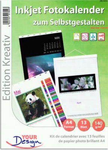 Fotokalender-Set A4 hoch, 140g