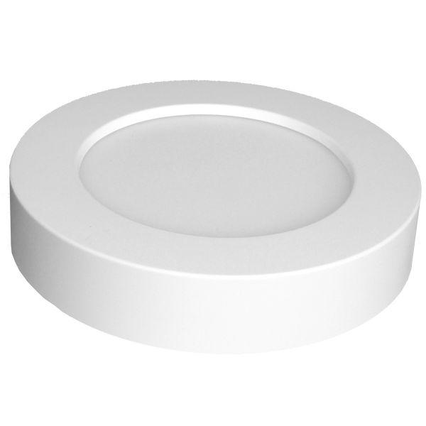 LED Aufbau-Panel rund, 12W, kaltweiß, 230V~