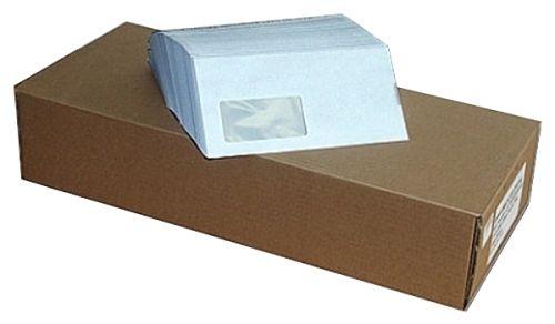 1000 Stück Briefumschläge Premium, DIN lang mit Fenster