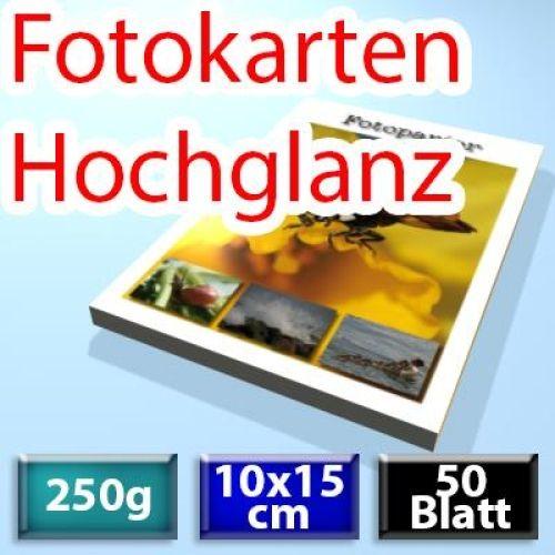 250g Foto-Karten 10*15cm, Glossy, 50 Blatt