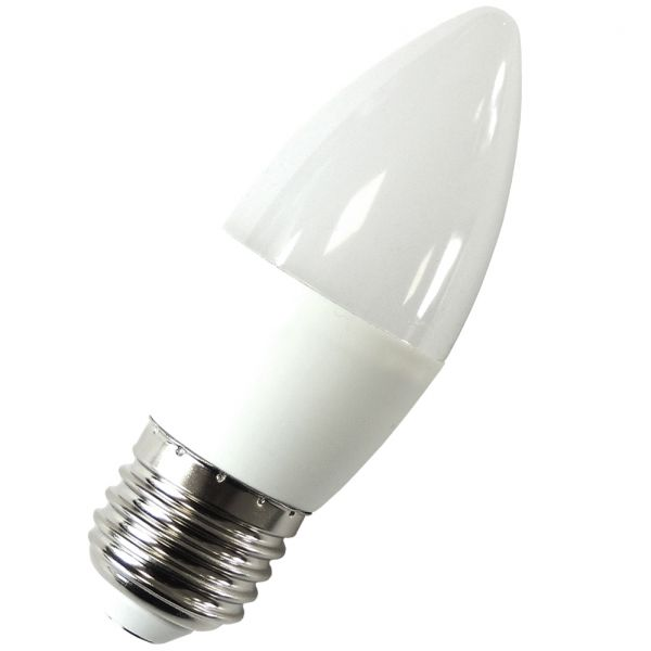 LED Kerze E27, 5.5W, 470 Lumen warmweiß