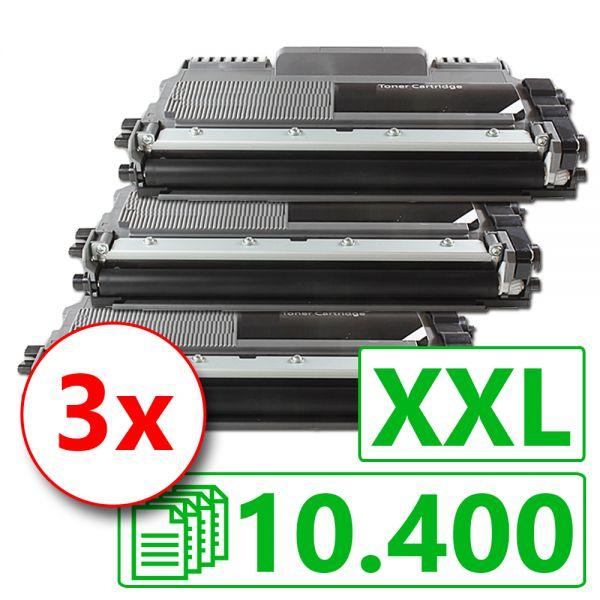 3 Alternativ-Toner XXL, Rebuild für Brother-Drucker, ersetzt TN-2220