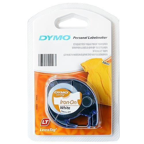 DYMO Letra Tag Etiketten-Band 12 mm x 2 m, weiß-aufbügelbar