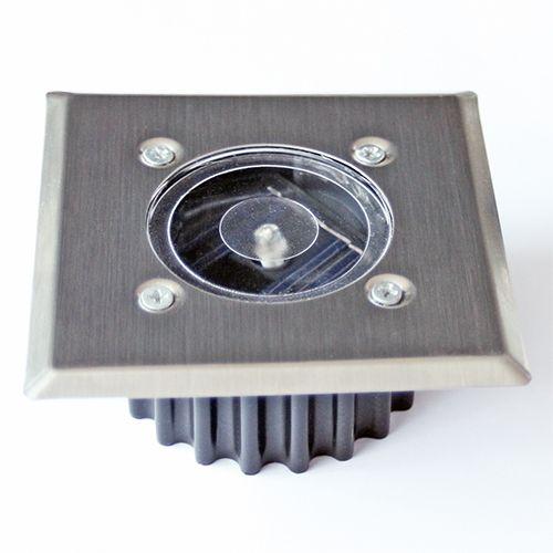 LED Bodenleuchte mit Solarfunktion, eckig