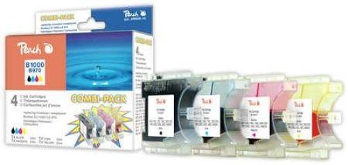 Peach Combi Pack, XL-Füllung, kompatibel zu LC-1000, LC-970 bk,