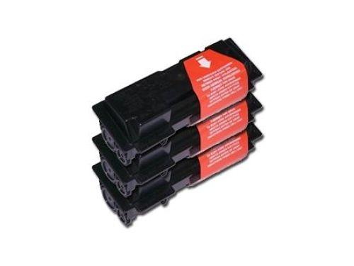 Toner-Set: 3 x schwarz, alternativ zu Kyocera TK-65